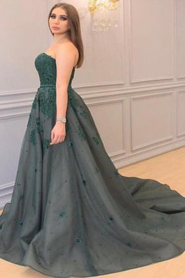 Normale Taille Prinzessin Tüll A Linie Ballkleid mit Applikation
