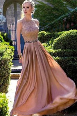 Paillette Chiffon Normale Taille Taft A Linie Ballkleid