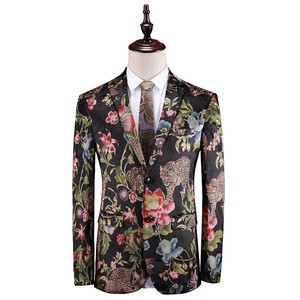 Smoking Homme Herren Tiger Neue Design Casual Floral