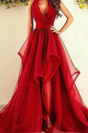 Organza Asymmetrisch Prinzessin Abendkleid mit natürlicher ...
