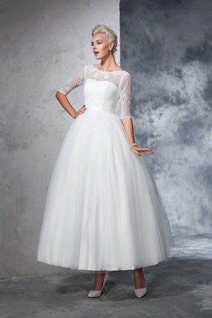 Sie möchten Ihr Luxushochzeitskleid kaufen 9ce2-vmrf4-armellos-boot-ausschnitt-reissverschluss-halbe-armeln-knochellanges-brautkleid