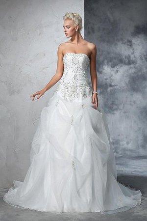 oft besser geeignet als zweites Hochzeitskleid 9ce2-y76n9-empire-taille-tull-kapelle-schleppe-anstandiges-brautkleid-ohne-armeln